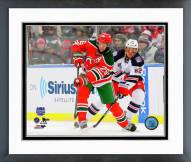 New Jersey Devils Patrik Elias 2014 NHL Stadium Series Framed Photo