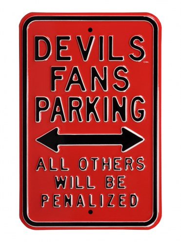 New Jersey Devils Penalized Parking Sign