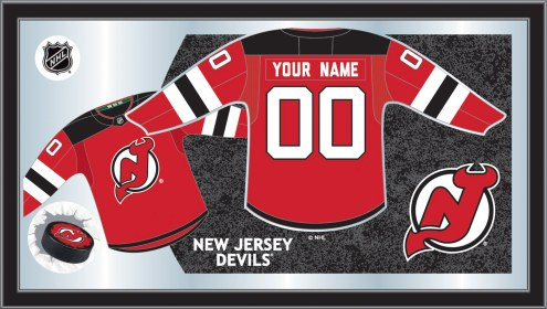 New Jersey Devils Personalized Jersey Mirror