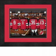 New Jersey Devils Personalized Locker Room 13 x 16 Framed Photograph