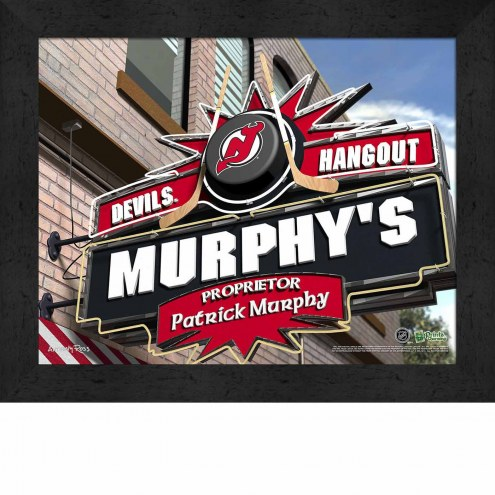 New Jersey Devils Personalized Framed Sports Pub Print