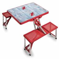 New Jersey Devils Red Sports Folding Picnic Table