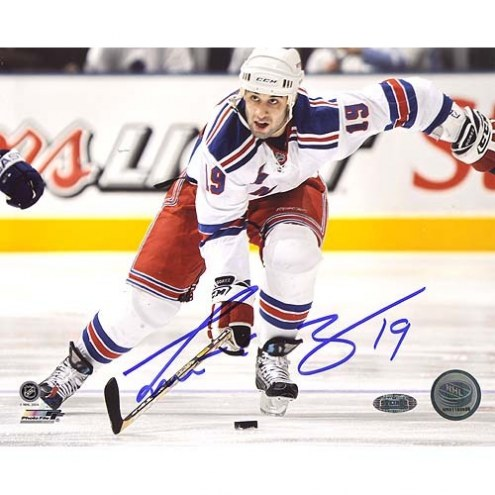 "New Jersey Devils Scott Gomez Carrying Puck up Ice Signed 16"" x 20"" Photo"