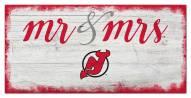 New Jersey Devils Script Mr. & Mrs. Sign