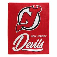 New Jersey Devils Signature Raschel Throw Blanket