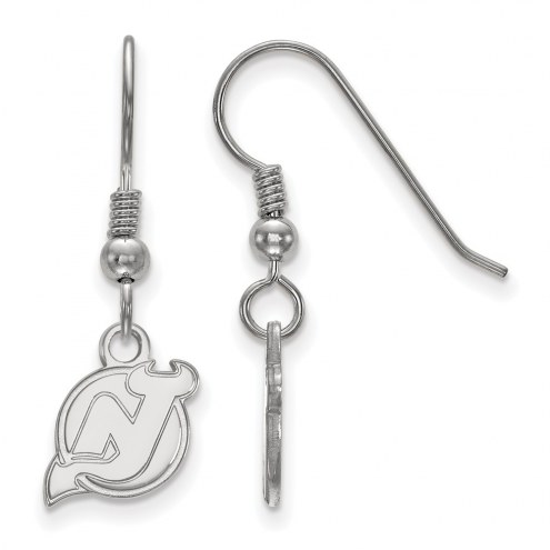 New Jersey Devils Sterling Silver Extra Small Dangle Earrings