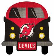 New Jersey Devils Team Bus Sign
