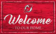 New Jersey Devils Team Color Welcome Sign