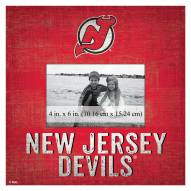 """New Jersey Devils Team Name 10"""" x 10"""" Picture Frame"""