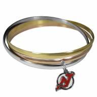 New Jersey Devils Tri-color Bangle Bracelet