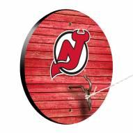 New Jersey Devils Weathered Design Hook & Ring Game