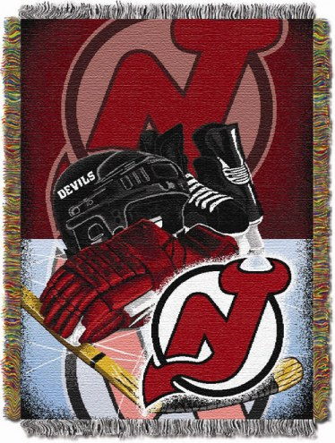New Jersey Devils Woven Tapestry Throw Blanket