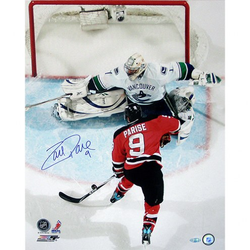 "New Jersey Devils Zach Parise Overhead Shot vs Vancouver Signed 16"" x 20"" Photo"