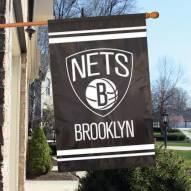 Brooklyn Nets Applique 2-Sided Banner Flag