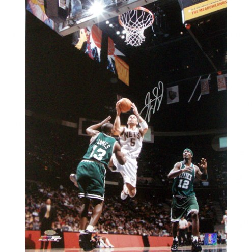 "New Jersey Nets Jason Kidd Home Lay-up vs. Celtics Signed 16"" x 20"" Photo"