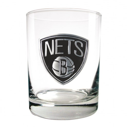 New Jersey Nets NBA 2-Piece 14 Oz. Rocks Glass Set