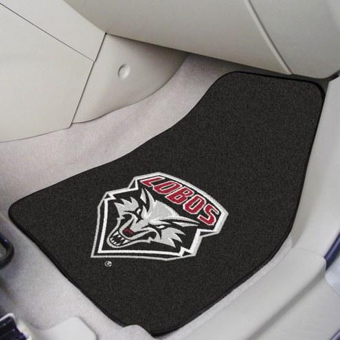New Mexico Lobos 2-Piece Carpet Car Mats