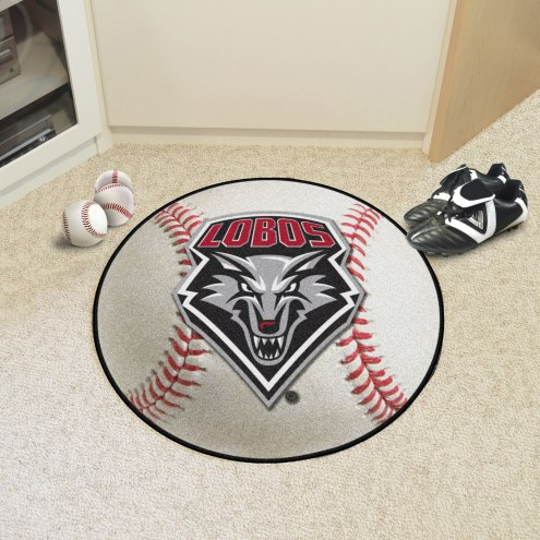 New Mexico Lobos Baseball Rug