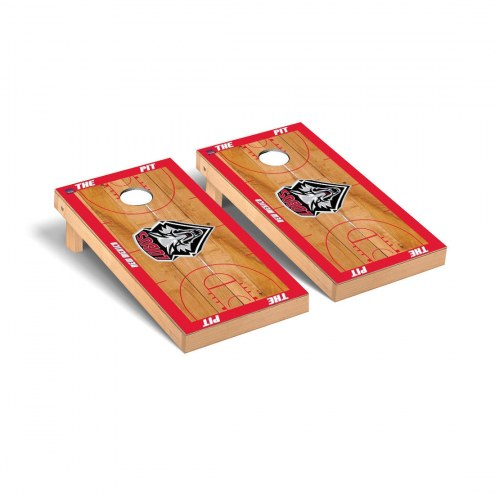 New Mexico Lobos Basketball Court Cornhole Game Set