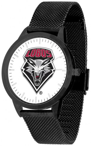 New Mexico Lobos Black Mesh Statement Watch