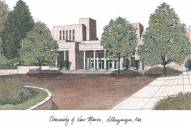 New Mexico Lobos Campus Images Lithograph