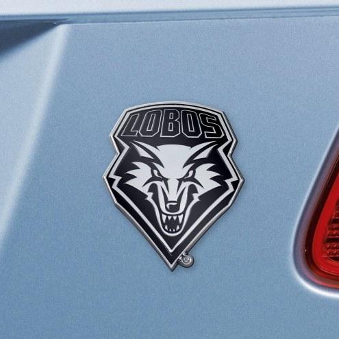 New Mexico Lobos Chrome Metal Car Emblem