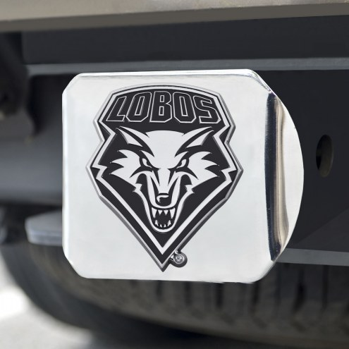 New Mexico Lobos Chrome Metal Hitch Cover