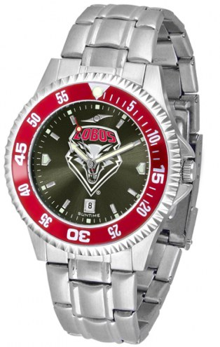 New Mexico Lobos Competitor Steel AnoChrome Color Bezel Men's Watch