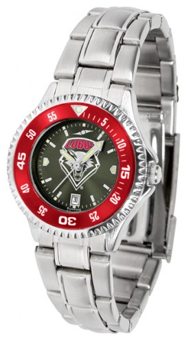 New Mexico Lobos Competitor Steel AnoChrome Women's Watch - Color Bezel