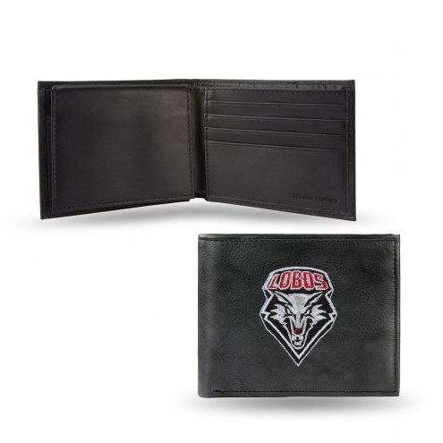 New Mexico Lobos Embroidered Leather Billfold Wallet