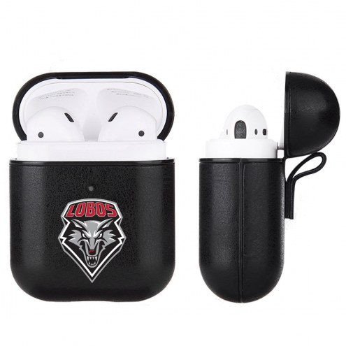 New Mexico Lobos Fan Brander Apple Air Pods Leather Case