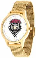 New Mexico Lobos Gold Mesh Statement Watch