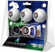 New Mexico Lobos Golf Ball Gift Pack with Key Chain