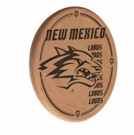 New Mexico Lobos Laser Engraved Wood Sign