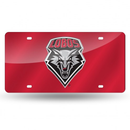 New Mexico Lobos Laser Cut License Plate