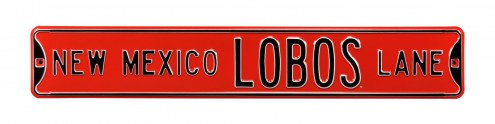 New Mexico Lobos NCAA Embossed Street Sign