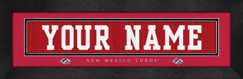 New Mexico Lobos Personalized Stitched Jersey Print