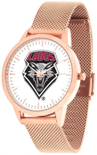 New Mexico Lobos Rose Mesh Statement Watch