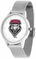 New Mexico Lobos Silver Mesh Statement Watch