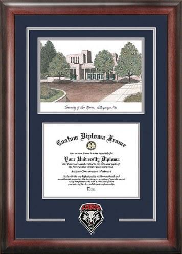 New Mexico Lobos Spirit Diploma Frame with Campus Image
