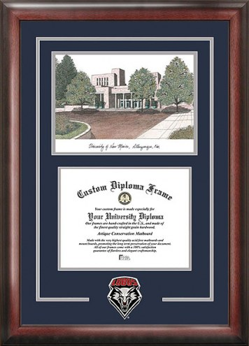 New Mexico Lobos Spirit Diploma Frame with Campus Image