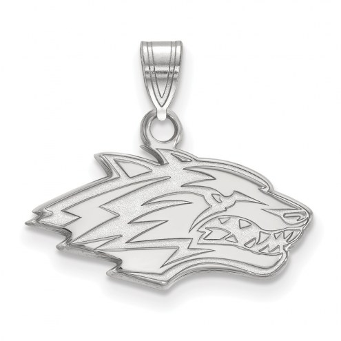New Mexico Lobos Sterling Silver Small Pendant