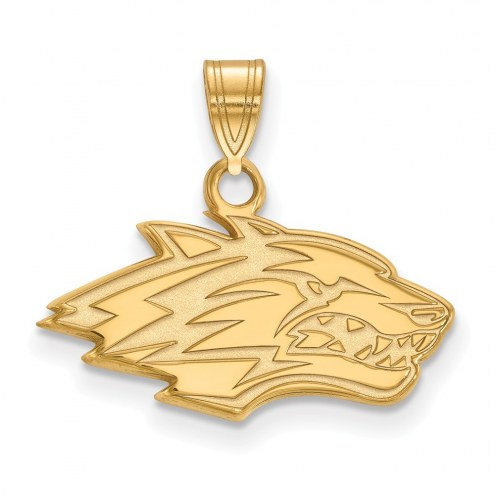 New Mexico Lobos Sterling Silver Gold Plated Small Pendant