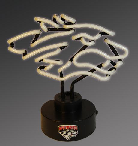 New Mexico Lobos Team Logo Neon Lamp