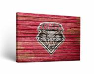 New Mexico Lobos Weathered Canvas Wall Art
