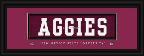 """New Mexico State Aggies """"Aggies"""" Stitched Jersey Framed Print"""