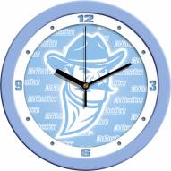 New Mexico State Aggies Baby Blue Wall Clock