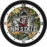 New Mexico State Aggies Camo Wall Clock