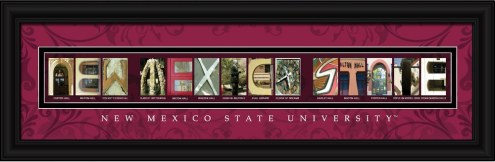 New Mexico State Aggies Campus Letter Art