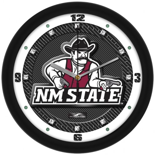New Mexico State Aggies Carbon Fiber Wall Clock